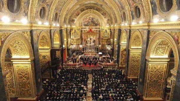 Valletta Baroque Fetival en la cocatedral de San Juan, en Malta. Se trata de uno de los eventos de música barroca más importantes del mundo