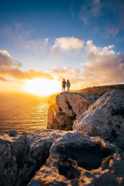 puesta de sol en malta